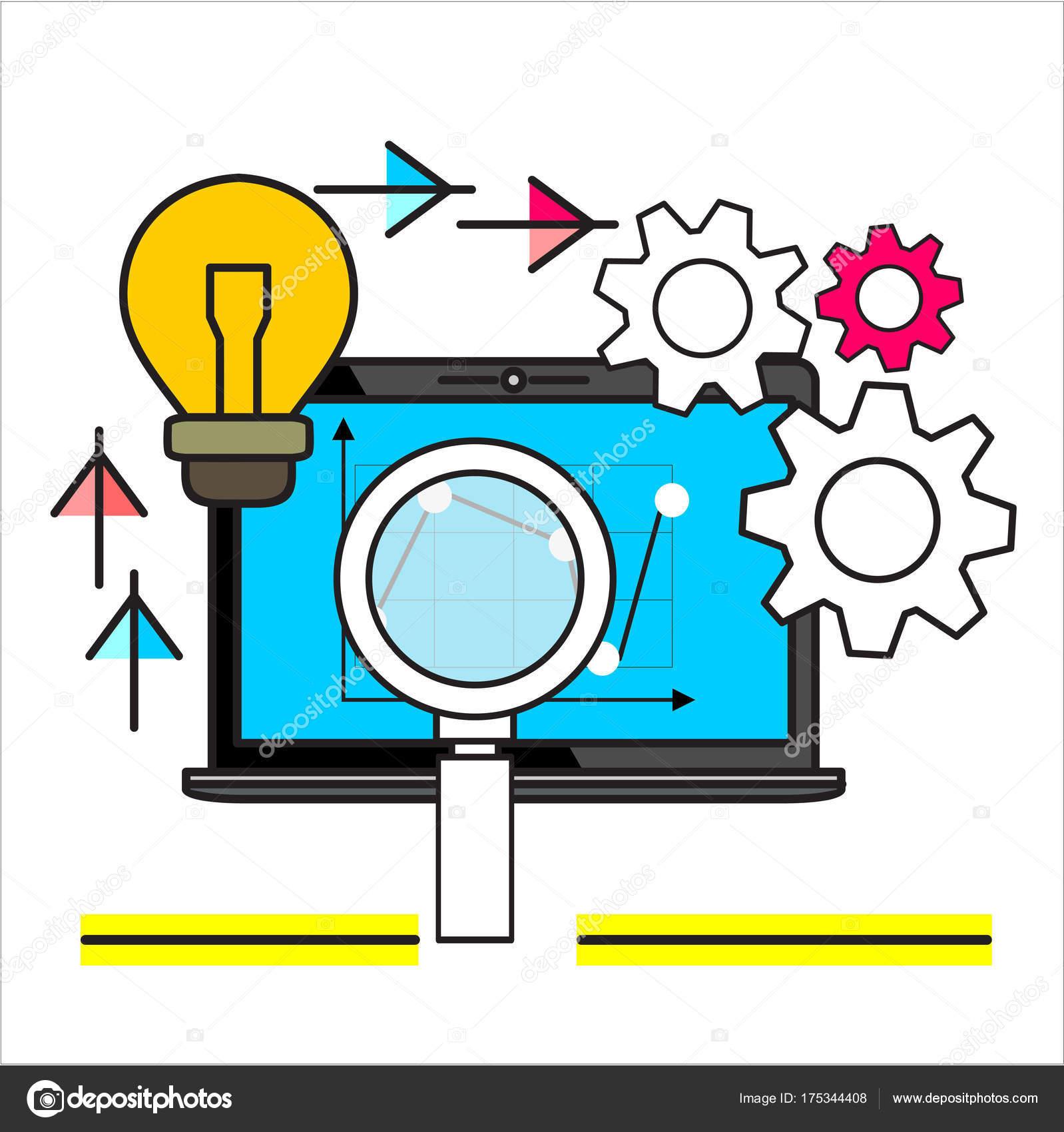 Analytics Információ Statisztika Honlap Fejlesztése Fogalmak Web Bannerek  Nyomtatott Reklámanyagok — Stock Vector 33ec361f96