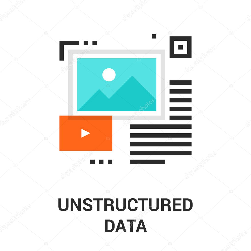 Unstructured data icon — Stock Vector