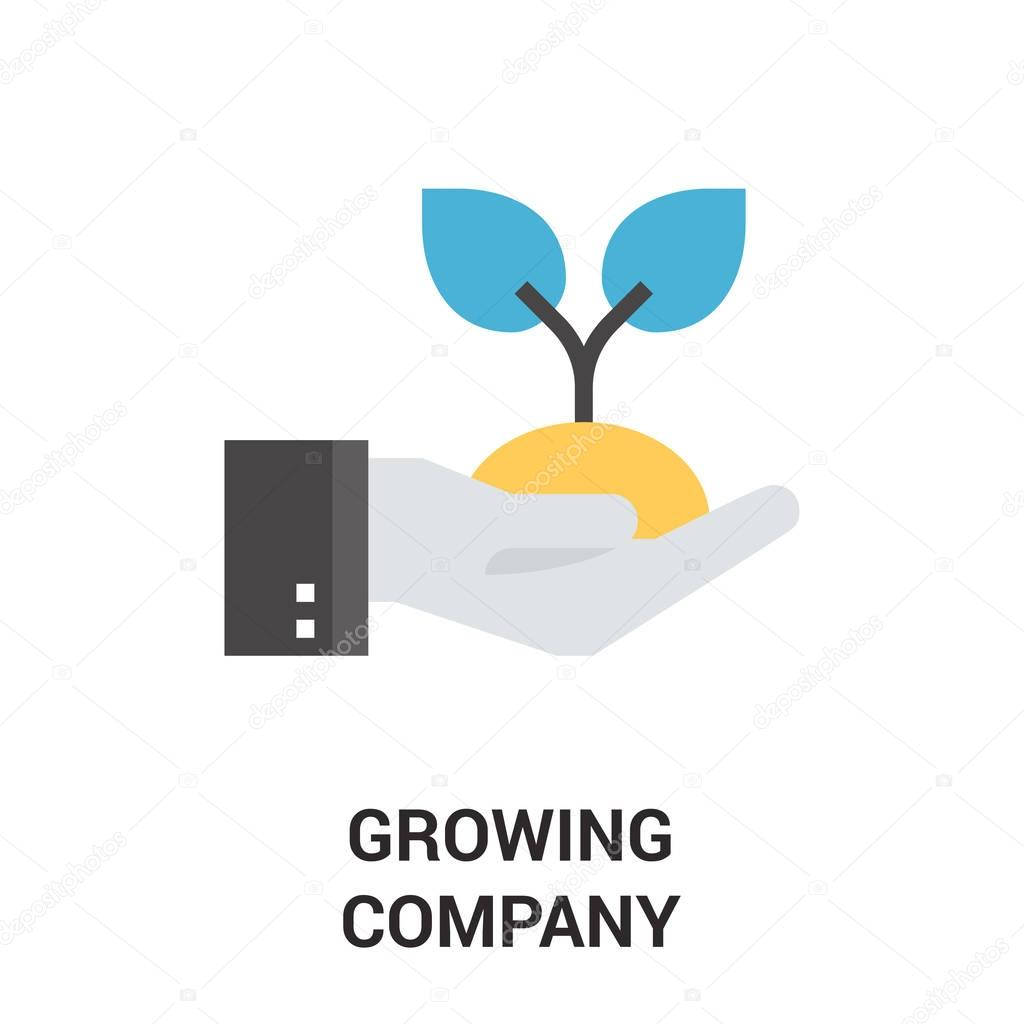 growing company icon concept