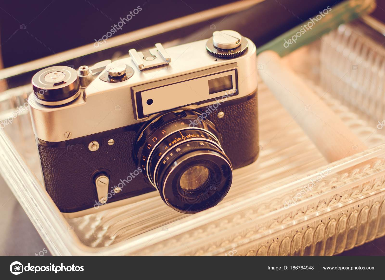 Old Photo Camera Objects Developing Photos Accessories