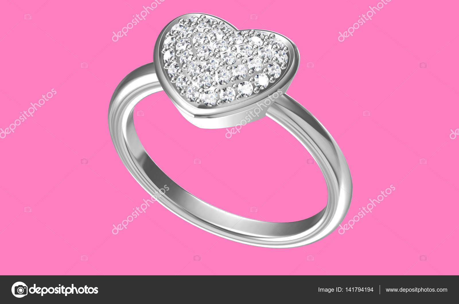 Diamonds ring on white gold body shape the most luxurious — Stock ...