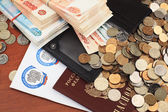 Russian tax documents and money