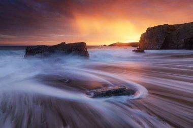 Quiberon coastline in Brittany (France)
