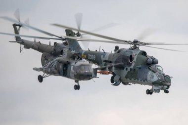 Mi-24 Helicopter Demo Flight