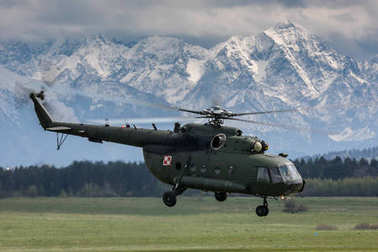 Polish Army Helicopters in Nowy Targ