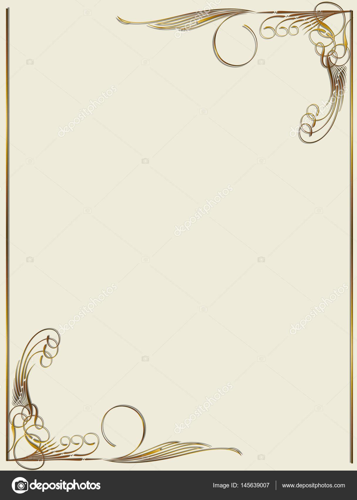 Marco beige con adornos de la frontera — Vector de stock © lily45 ...