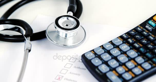 Health Evaluation Form And Calculator Stock Video C Wavebreakmedia