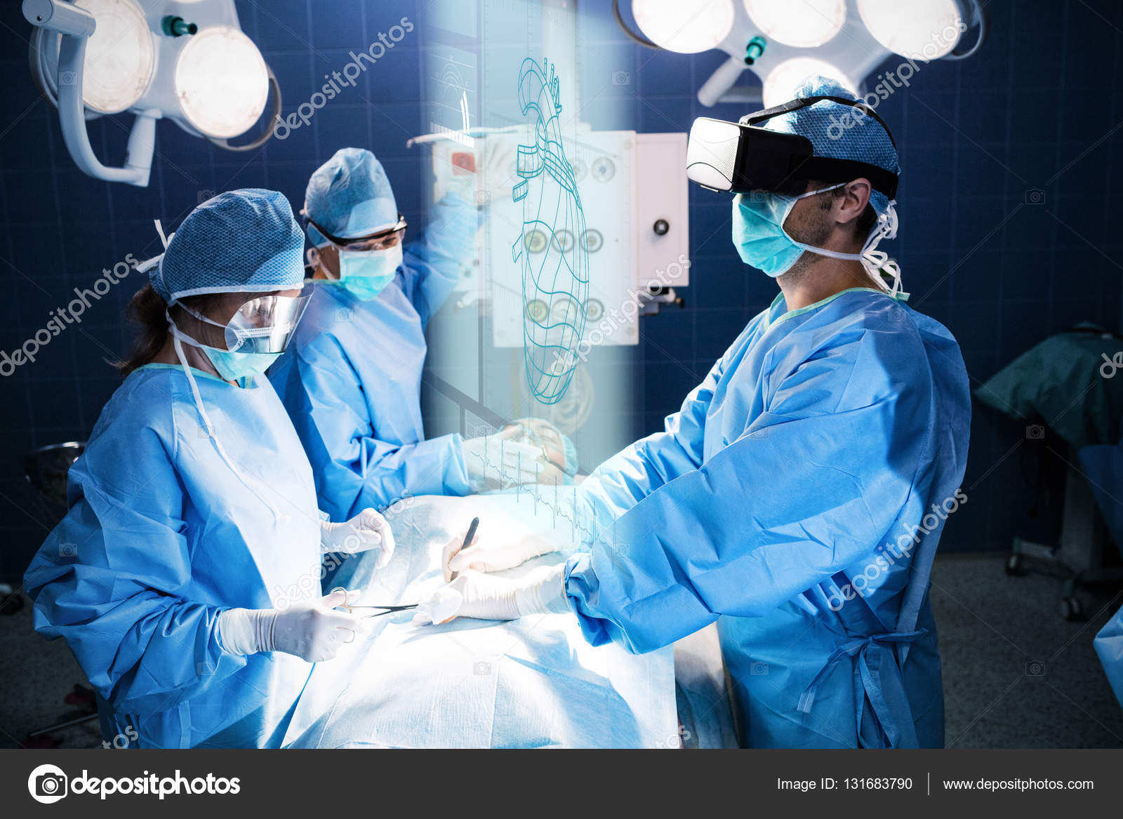 surgeons performing operation stock photo wavebreakmedia 131683790