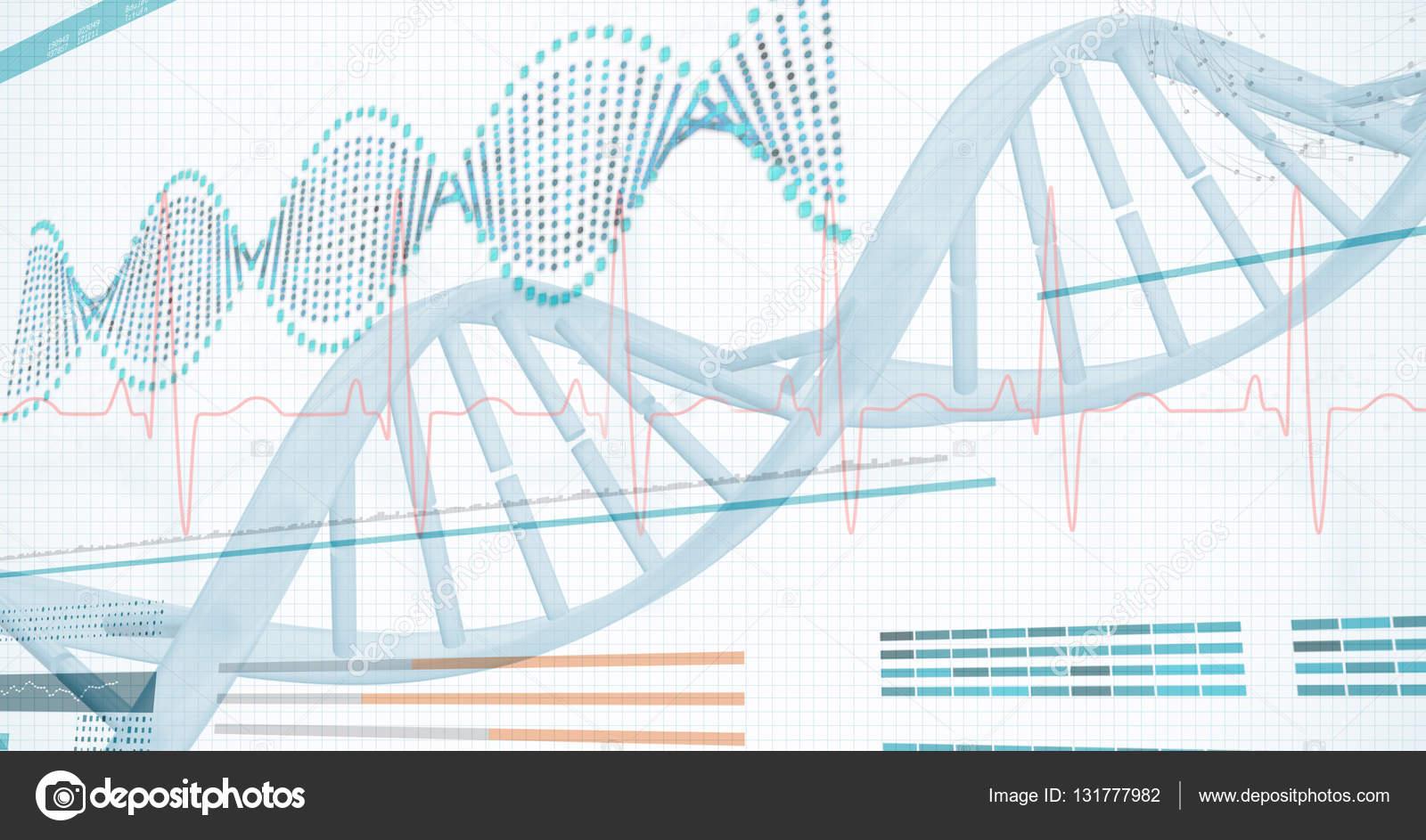 Diagrama de la hélice de ADN — Foto de stock © Wavebreakmedia #131777982