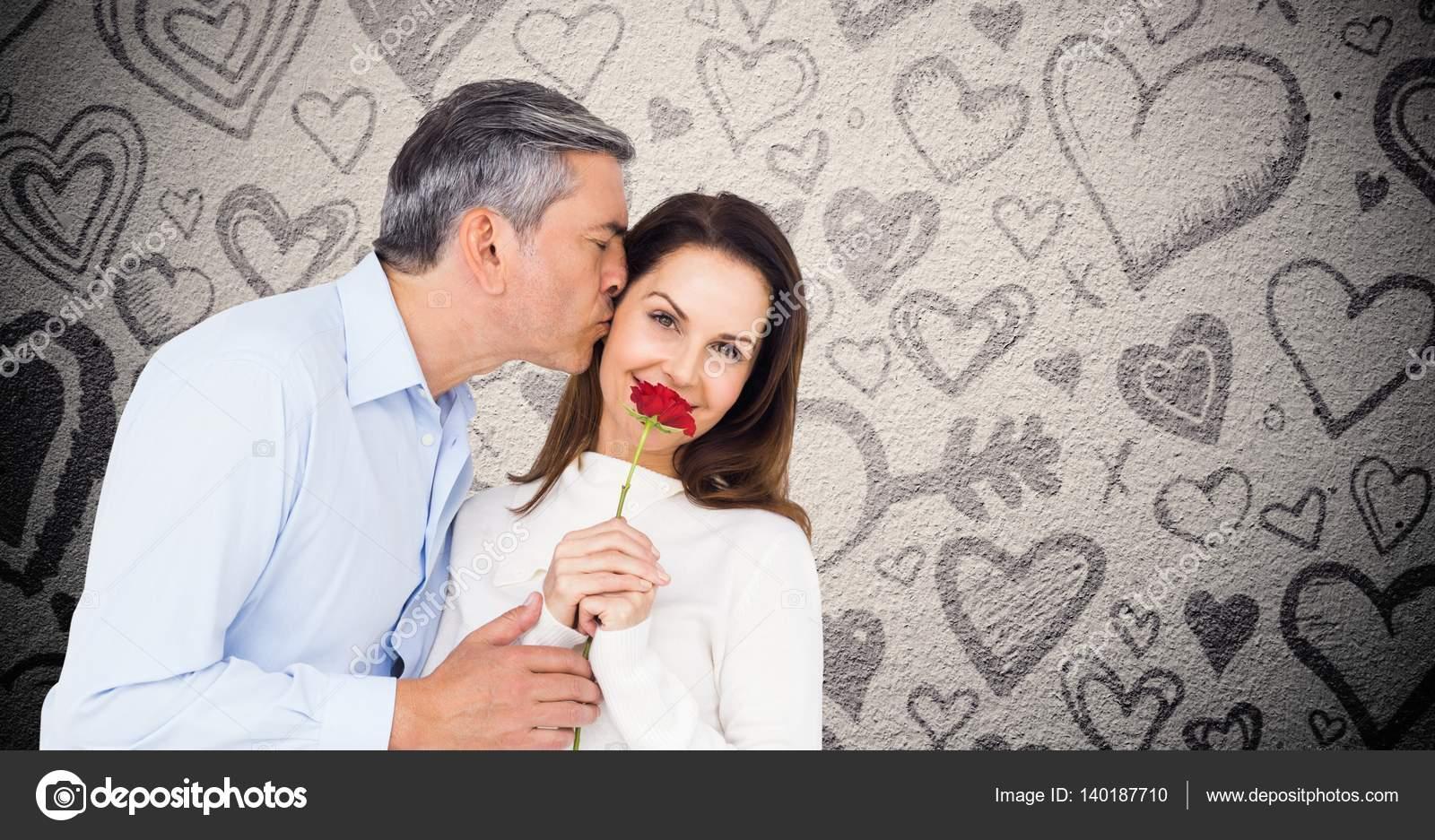 mature man kissing woman — stock photo © wavebreakmedia #140187710