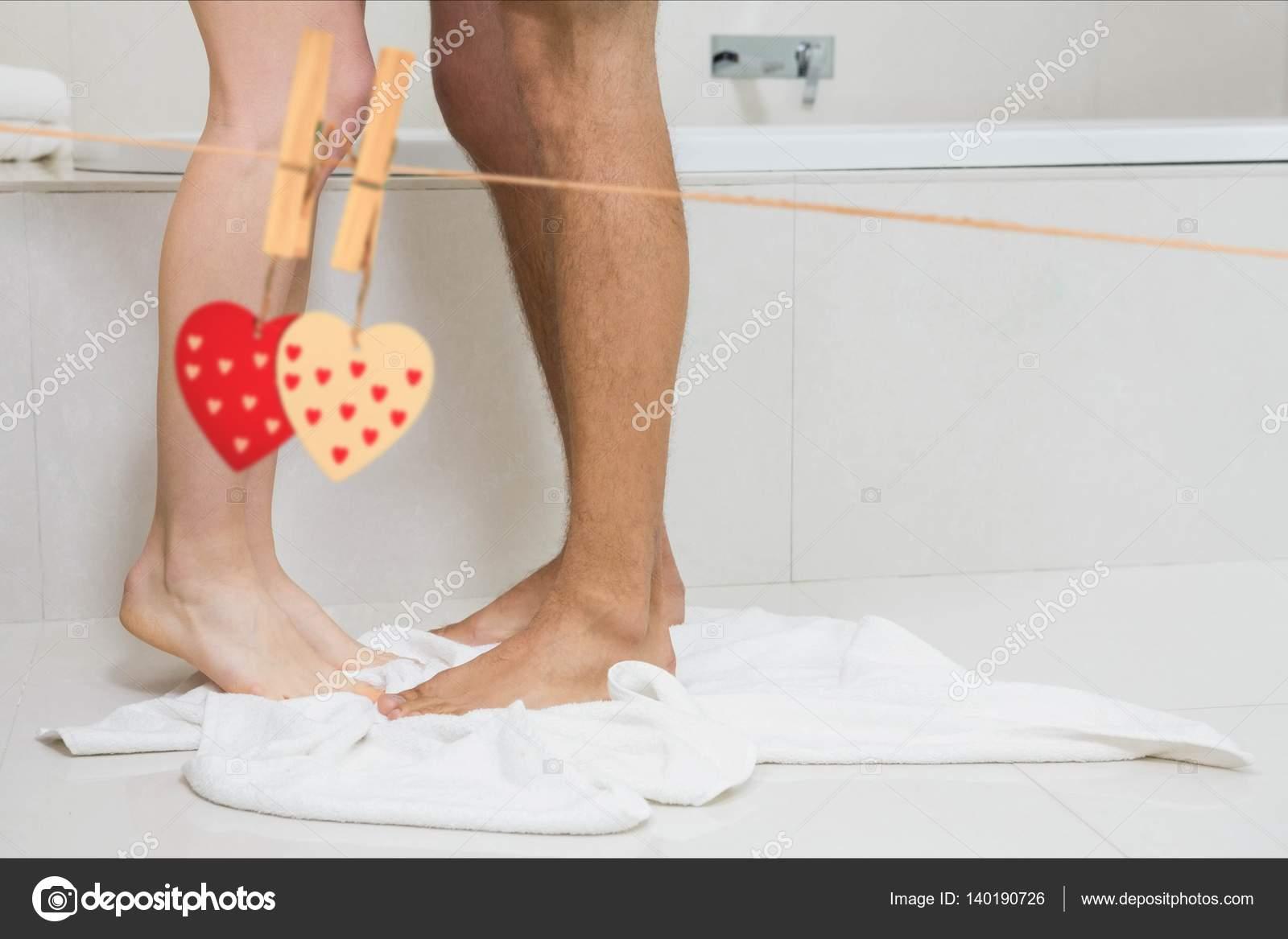 фото ног в ванной комнате