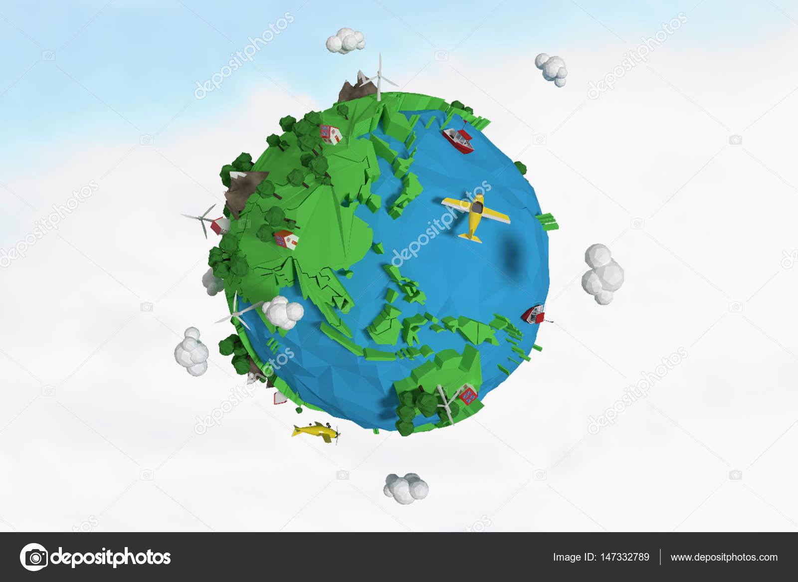 Bezaubernd Weltkugel 3d Das Beste Von Zusammengesetztes Bild Des -symbol Gegen Blauen Himmel