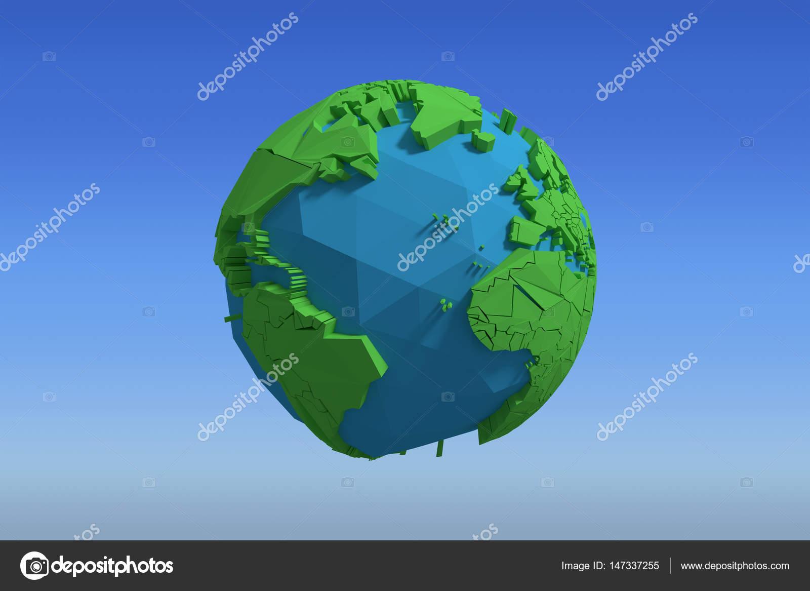 Blickfang Weltkugel 3d Das Beste Von Zusammengesetztes Bild Des -symbol Gegen Hellblau Sky
