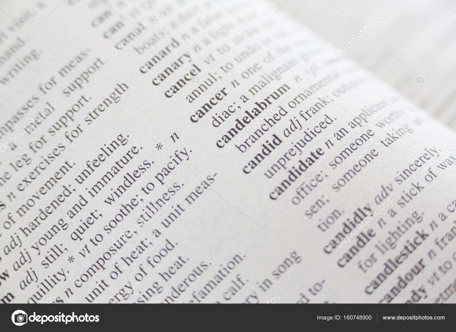 Disparo de marco completo del Diccionario — Fotos de Stock ...