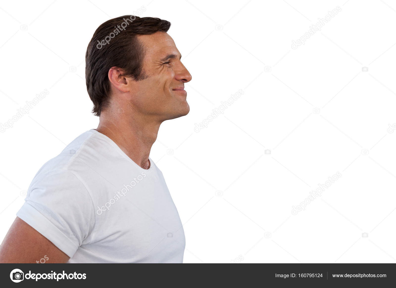 Side view of smiling mature man looking away — Stock Photo