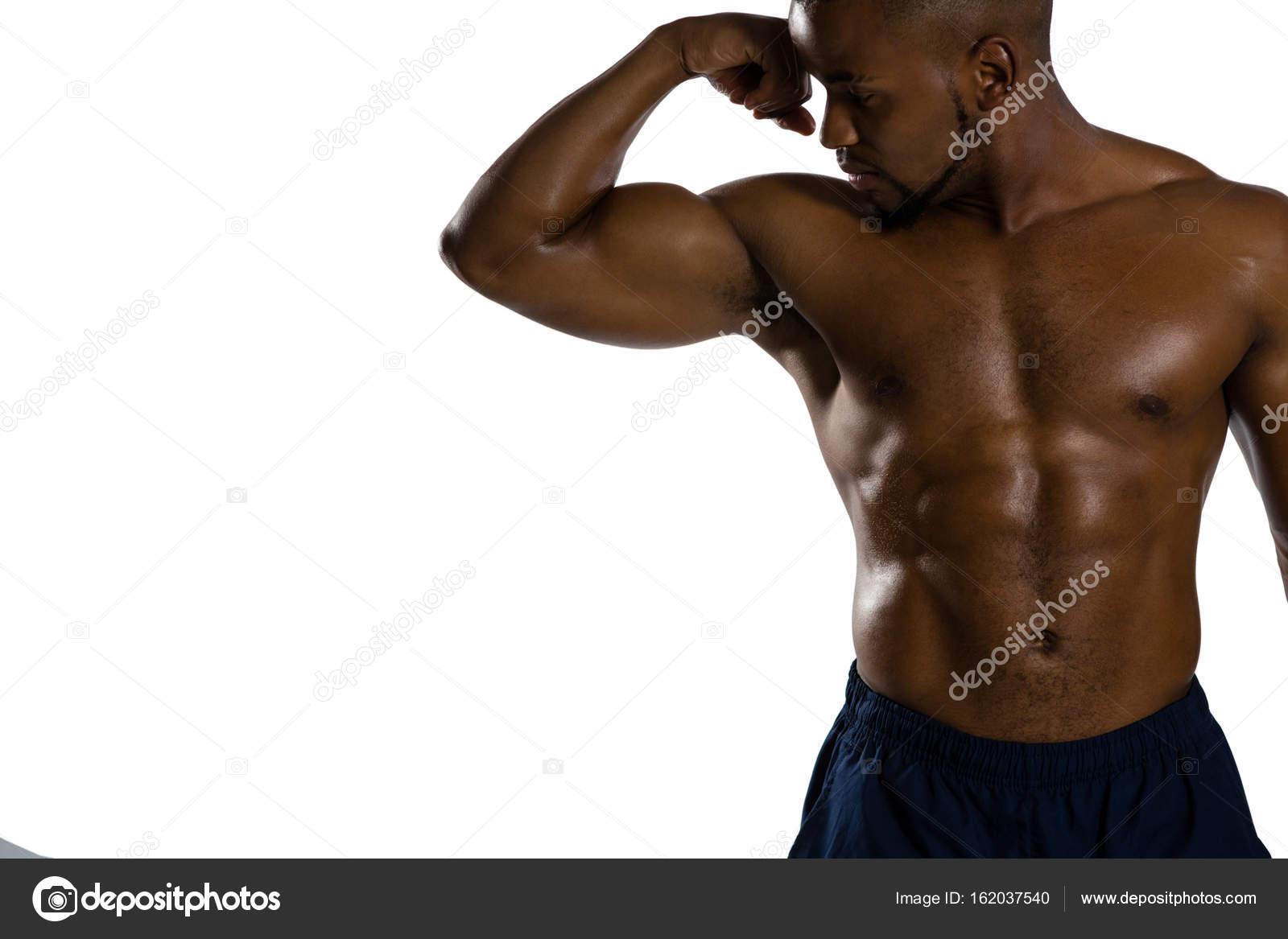 Nackter Oberkörper Sportler, die Muskeln — Stockfoto ...