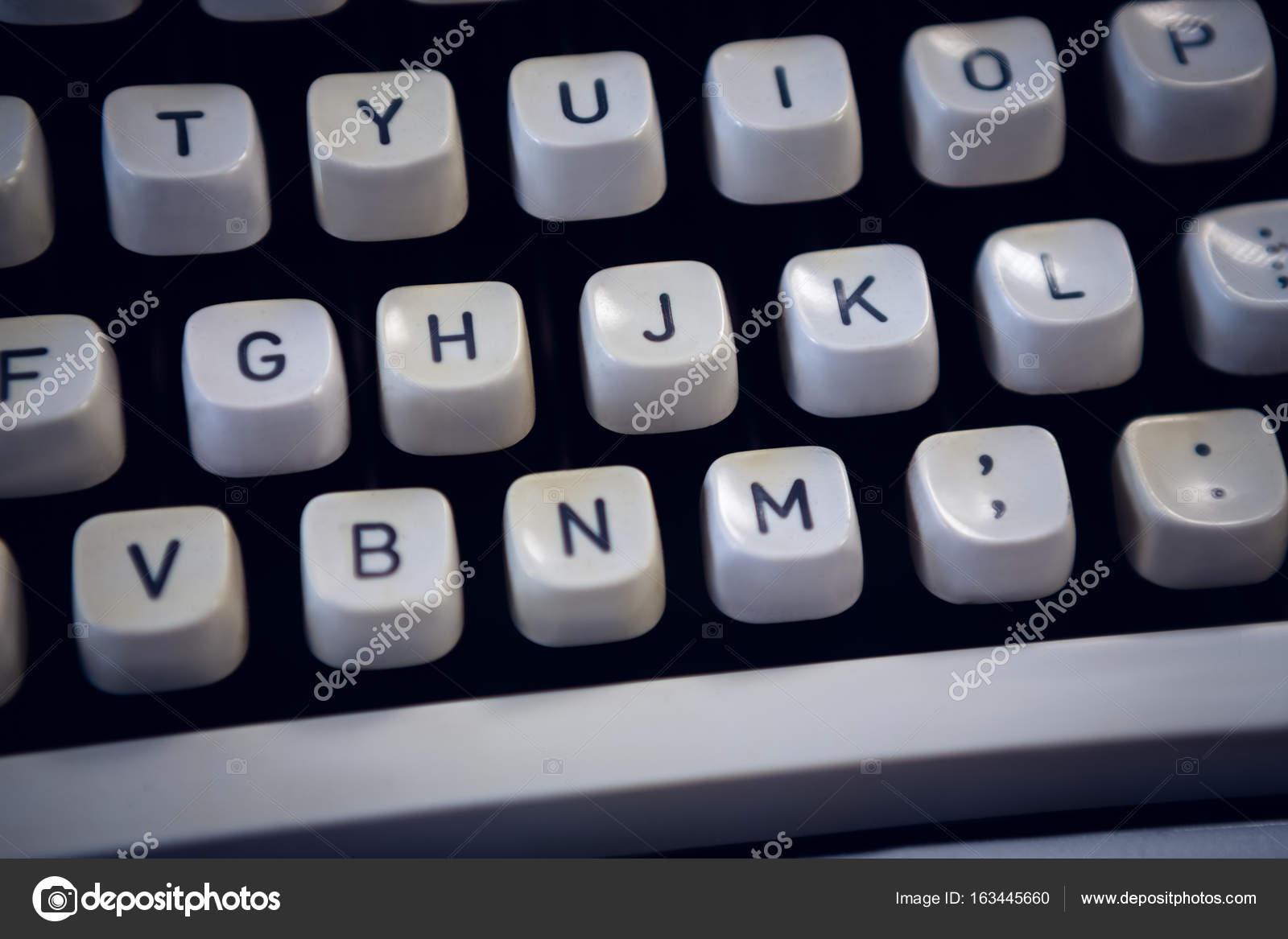 Disparo de marco completo de la máquina de escribir — Foto de stock ...