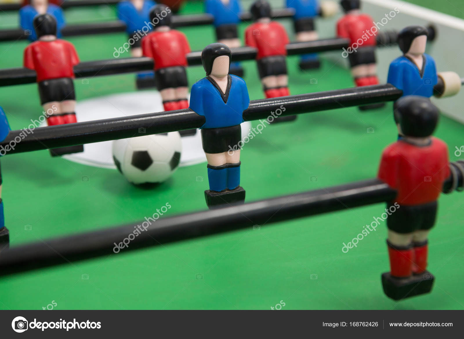 Close Up Of Table Soccer Game U2014 Photo By Wavebreakmedia