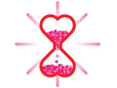 Hart Sand glass valentine
