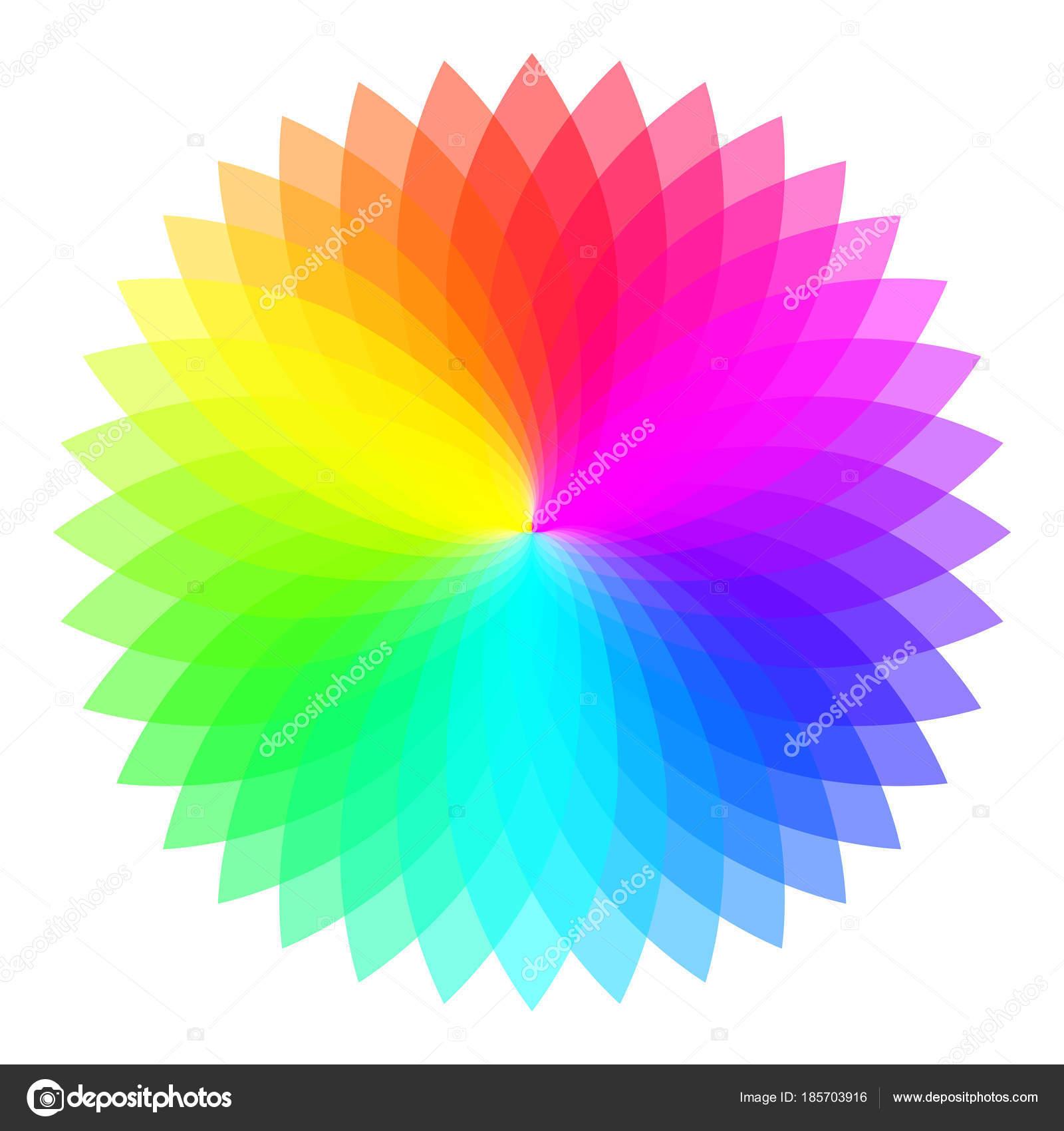 レインボー カラー ホイールカラフルなイラスト ガイド ストック