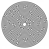Fotografie Labyrinth-Symbol. Labyrinth-Symbol.