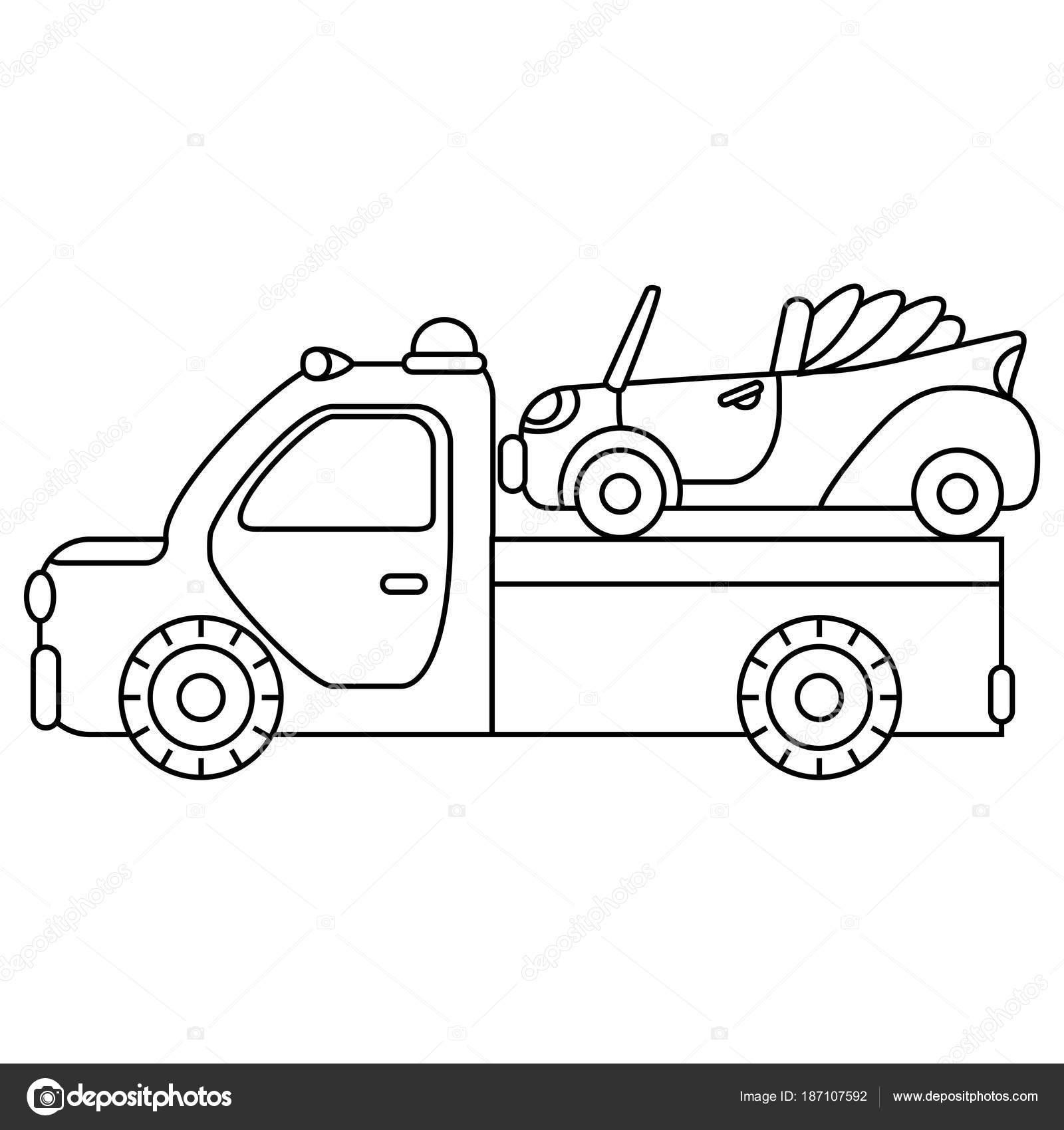 Carro remolque para vehículos de emergencia de transporte ...