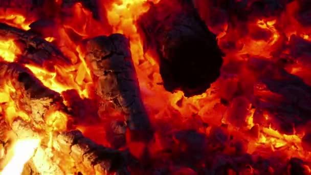 Žhavý dřeva používaného pro vaření