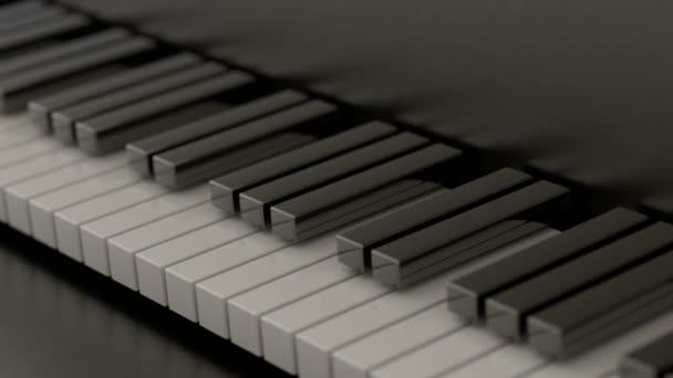 Számítógéppel generált zongora billentyűk