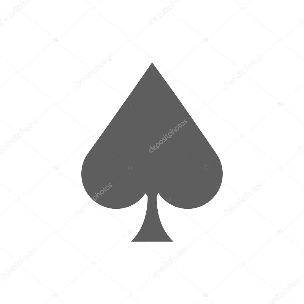 Ace of spades icon stock vector smarques27 126261126 ace of spades icon illustration on a white background vector by smarques27 biocorpaavc Choice Image