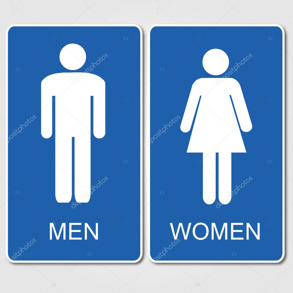 . Restroom signs illustration   Stock Vector   smarques27  128676278
