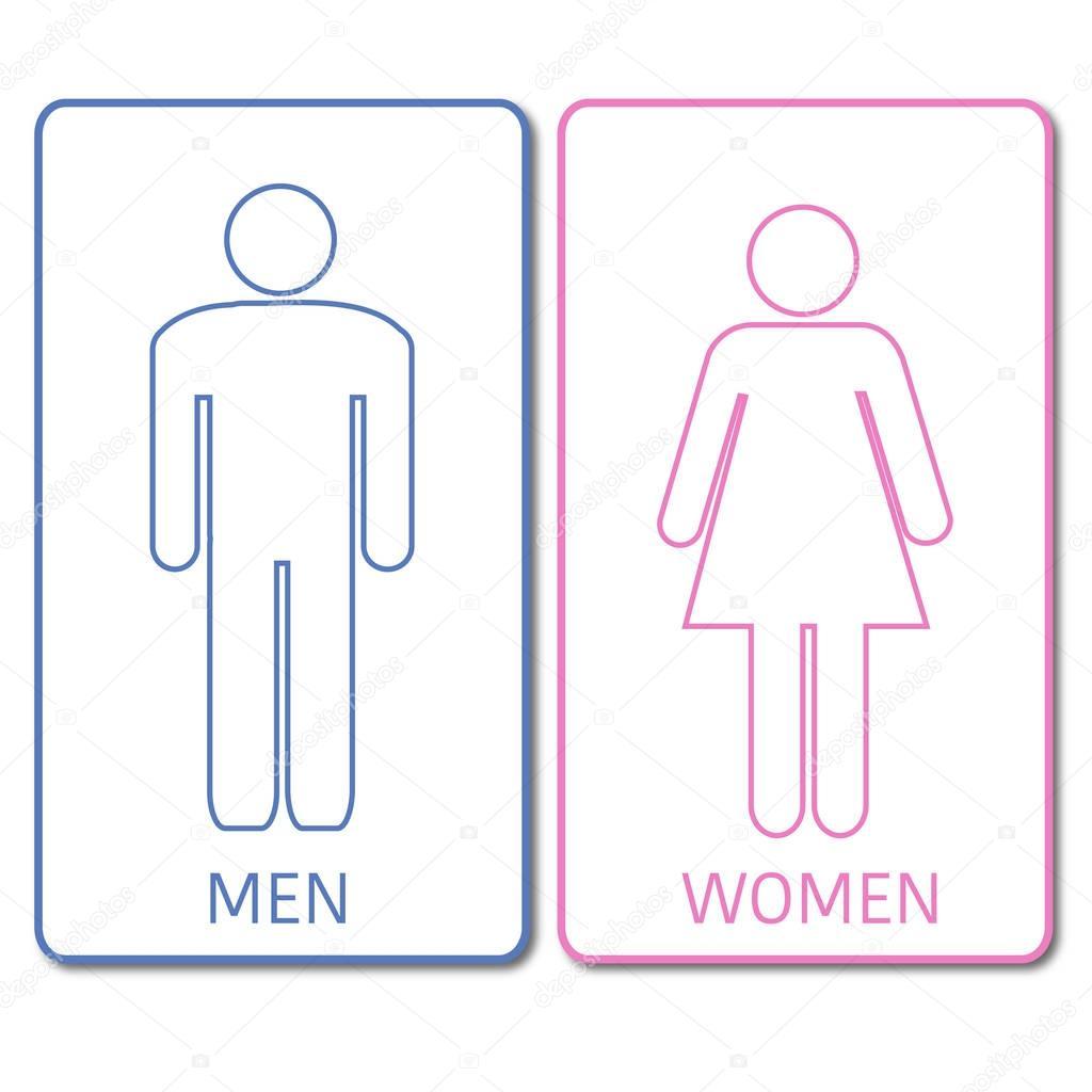 Señal de baños azul y rosa — Archivo Imágenes Vectoriales ...