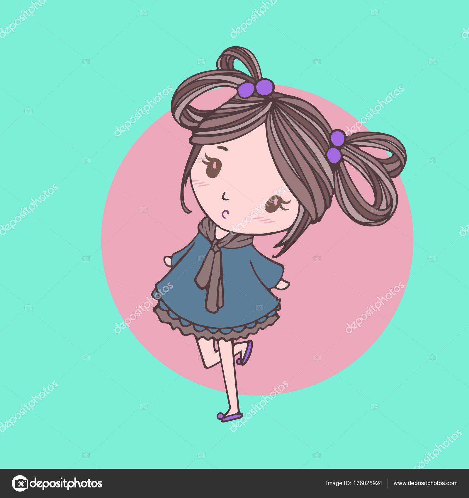 かわいい女の子のドレス ベクトル イラスト ストックベクター