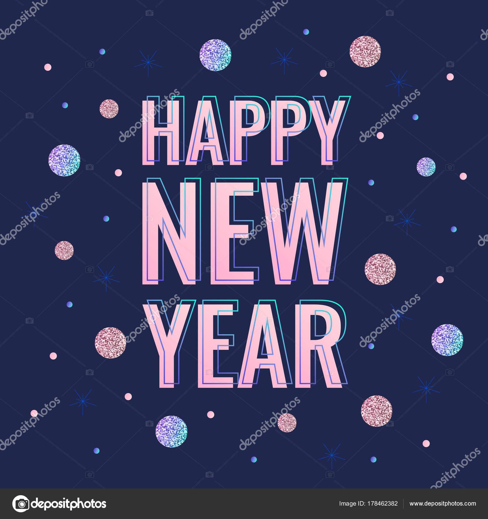 Happy New Year Flat Design 96