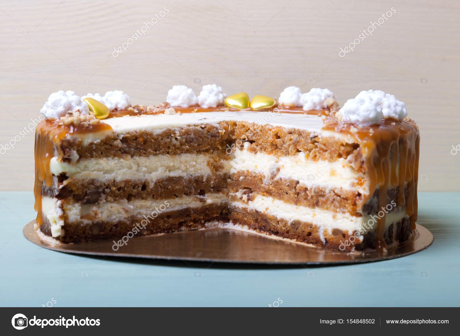 Stucke Von Hausgemachten Kuchen Mit Verschiedenen Valentinstag
