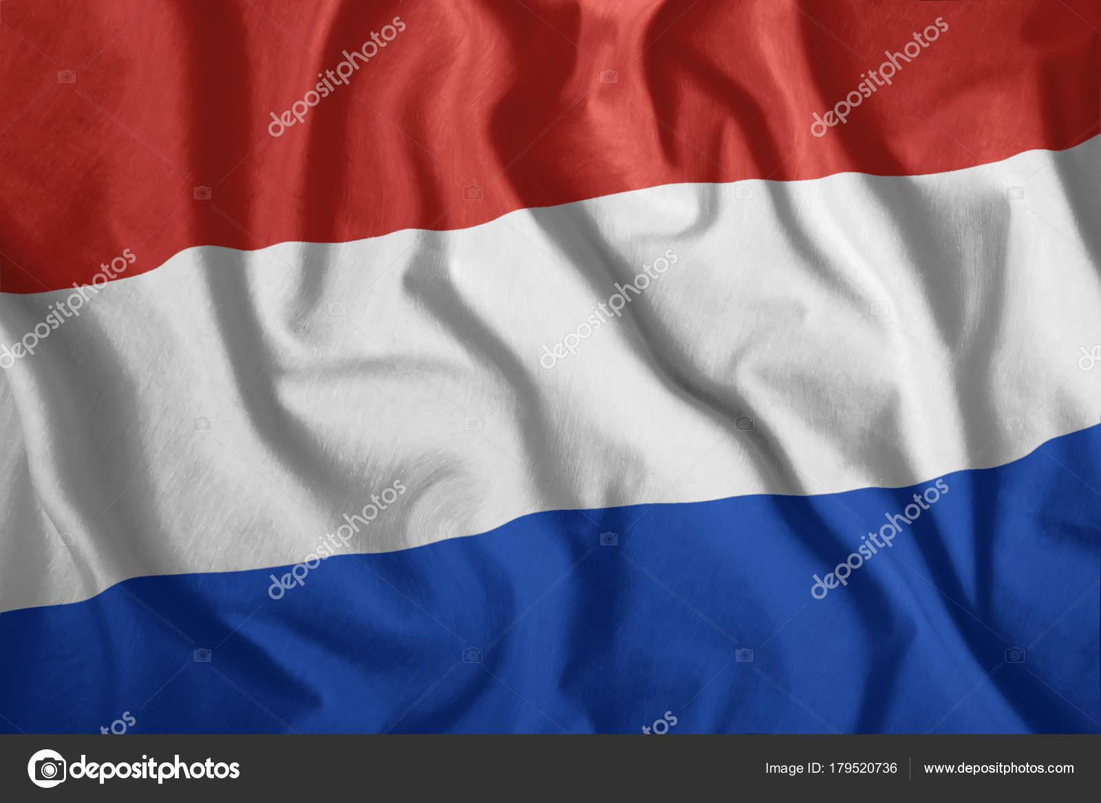 La Bandiera Olandese Sta Volando Nel Vento Bandiera Colorata