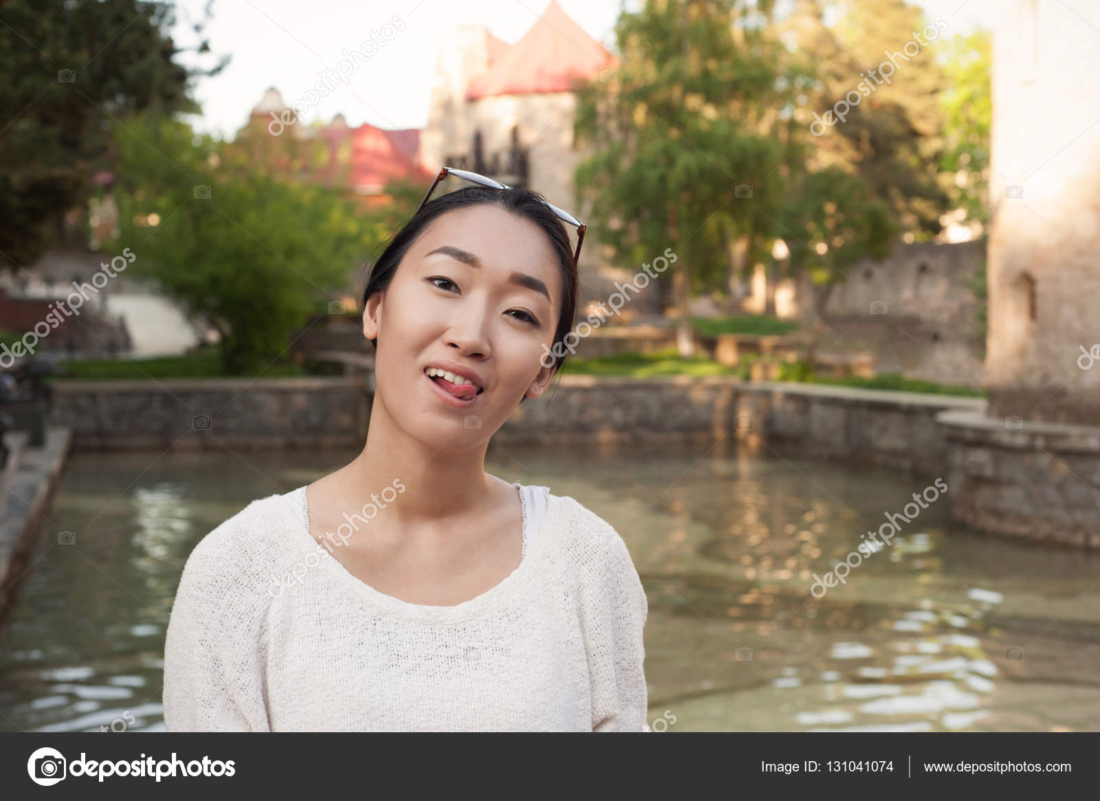 Funny chinese girl