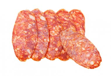 Pieces of the sausage