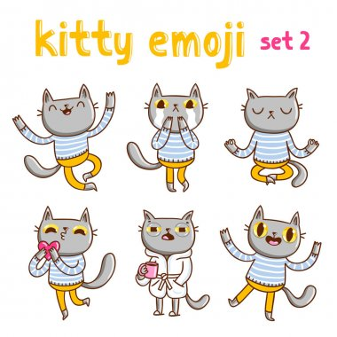 Kitty emoji set 2