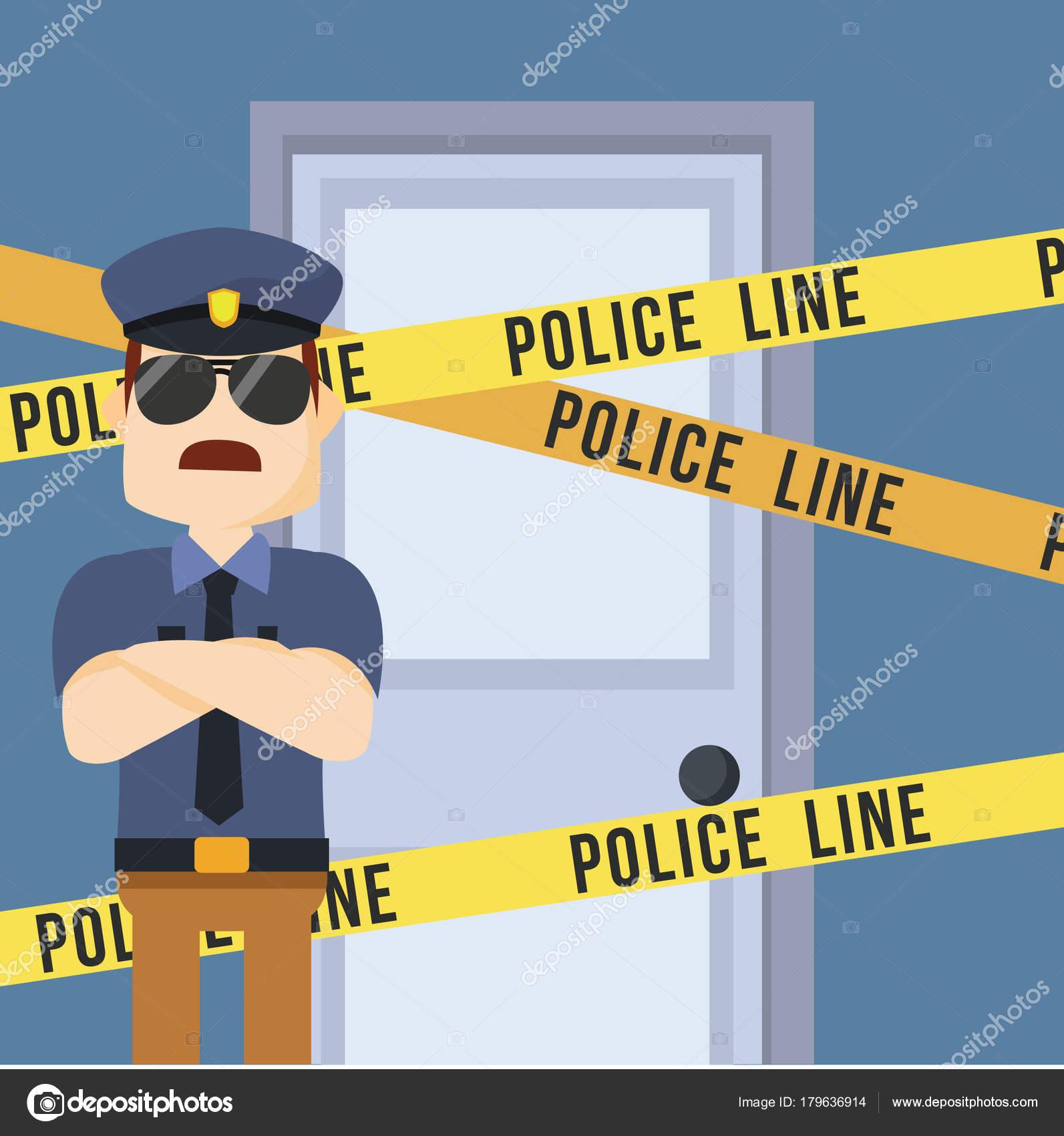 Crime Vectorielle — Garde Image Simpledesign79 Scène Police ©179636914 7ybYf6gv