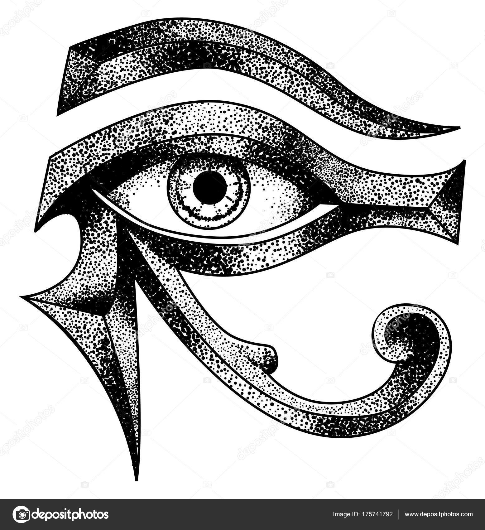 Eye Horus Reverse Moon Eye Thoth Stock Illustration — Stock