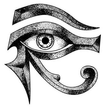 EYE of Horus - reverse moon eye of Thoth stock illustration