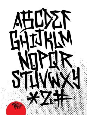tag alphabet  stock illustration