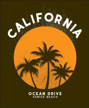 california sun set t shirt design vector file