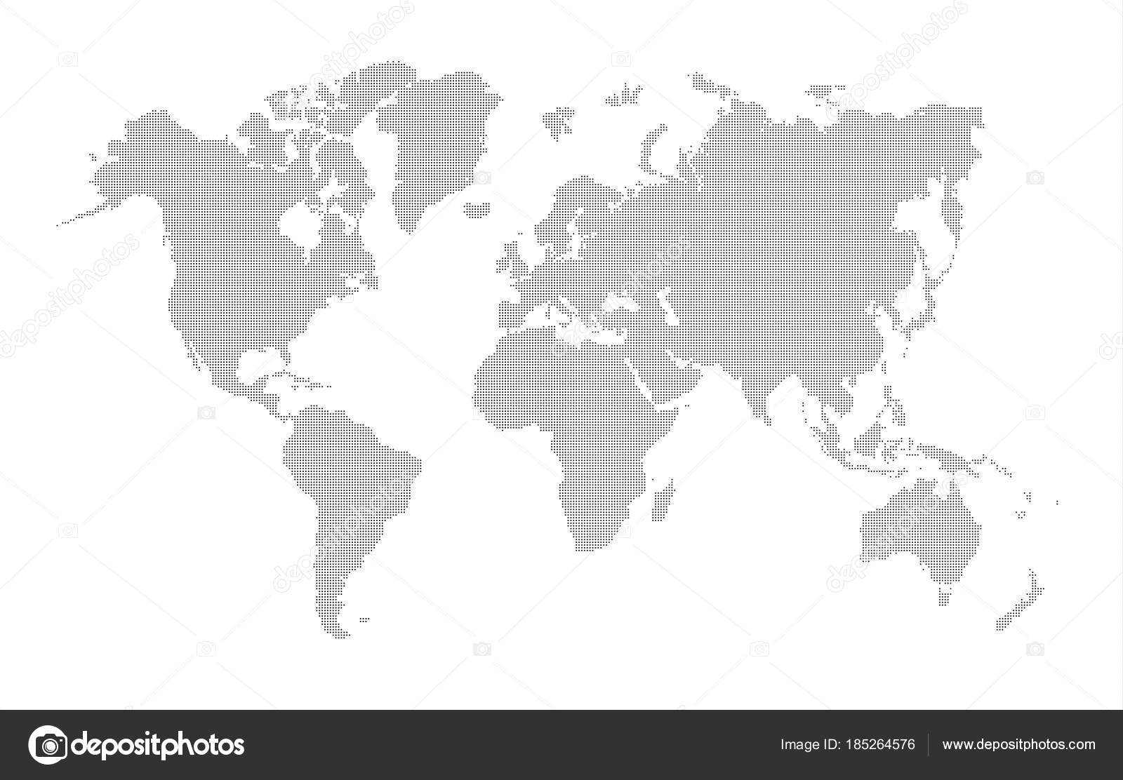 World Map Dotted Vector Design — Stock Vector © snipergraphics ...
