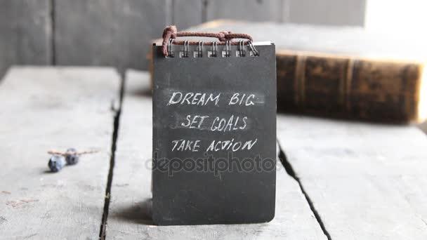 Dream Big Set Goals Take Action, Business motivation.