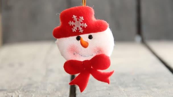 Sněhulák hračka. Vánoční a novoroční výzdoba
