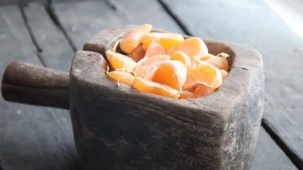 Zdravé stravování a imunitní systém boost s přírodními vitamíny. Mandarinkové citrusové řezy