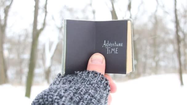 journey concept, adventure time inscription