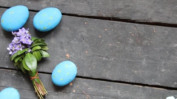 Színes húsvéti tojás. Ünnepi dekoráció.