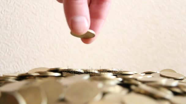 Male hand putting coin